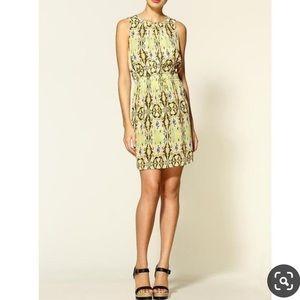 EUC Tibi Layla Ikat print silk sleeveless dress